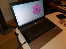 HP laptop. Windows 10. Microsoft Office 2016.