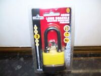 BRAND NEW LONG SHACKLE WEATHER RESISTANCE PADLOCK