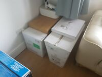 Brand new toilet including soft close seat. White, in box never fitted