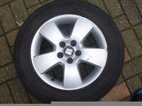 Seat Alloy Wheels 5x100 Fit Vw Golf Audi Skoda Etc 195/65/15 tyres