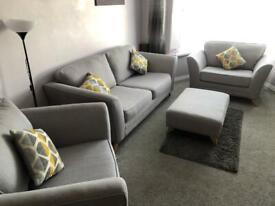 SCS sofa set with footstool