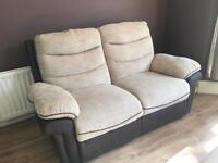 2 X Recliner Sofas (DFS) in great condition (1 electric)