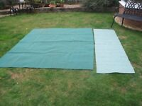 Ground Sheet * breathable* 252cm x 200cm approx. * green with separate runner