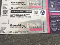 Creamfields camping Friday to Monday 3 nights