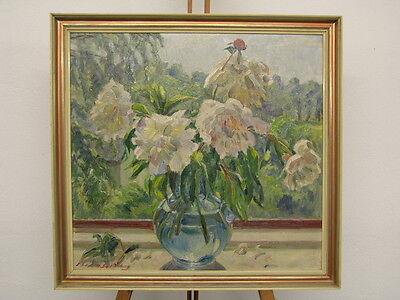 Ölgemälde Blumenstillleben Elisabeth Schmidt-Sophienberg (1882-1970) 19./20. Jh.