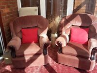Free 2matching arm chairs