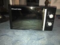 Microwave Russel Hobbs only two months old only used ones