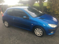2005 Peugeot 206 3 door 1.4 12 month MOT Tidy Car