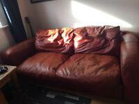 Brown leather sofa FREE