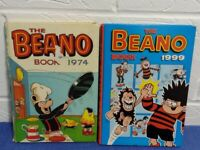 Beano and Dandy annuals.