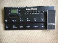 LINE 6 POD HD500X EFFECT PROCESSOR WITH CASE