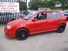 Skoda FABIA VRS TDI,5 dr hatchback,FSH,full MOT,very fast,nice clean tidy car,runs and drives well,
