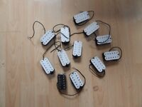 12 Humbucker pick ups all working and brand new but have lugs broken off, ideal luthier or hobbyist