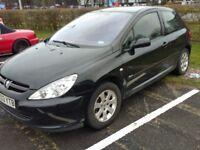 Peugeot 307, Rapier 2 doors, black , Low Mileage