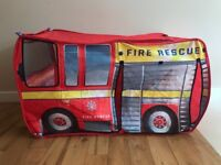 Chad Vally Fire Engine / Truck Tent ( great for Fireman Sam fans)