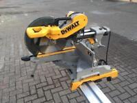 DeWalt DWS780 compound slide mitre saw with de7023 stand 240v
