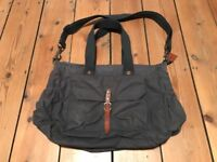 Ally Capellino Mary Waxed Cotton Holdall / Changing Bag (Navy)