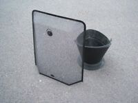 Coal or wood bucket black metal. Suitable for coal or logs. Ideal for next to stove and a fire guard