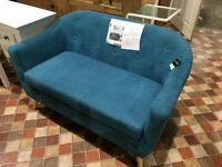 Fulham 2 Seater- Light Blue