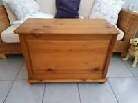 Pine Ottoman Storage chest trunk