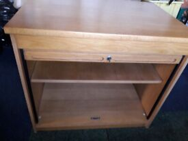 Roll Front Lockable Wooden Office Cabinet