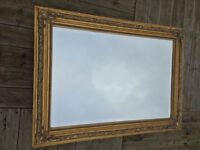 Large Antique Style Gold Frame Mirror