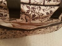 Brown / beige nappy changing bag vgc