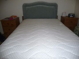 4ft divan two draw bed with Mattress and Headboard.