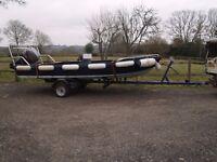 """Aluminium Boat """"Ausie Surf Jumper"""" 60HP Mariner + Galvanised Trailer."""
