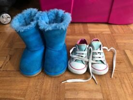 Ugg boots and converse trainers