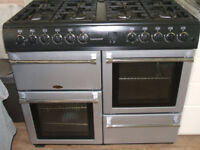 BELLING COUNTRY CHEF RANGE COOKER SILVER/BLACK