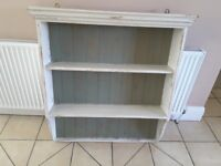 Painted pine display shelves
