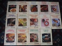14x Job Lot Cookery Hard Back Books,Good Housekeeping step-by-step 160p,100 recipes in each book
