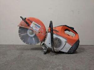 HOC STIHL TS410 CONCRETE SAW QUICK CUT OFF SAW + WATER ATTACHMENT + 30 DAY WARRANTY + FREE SHIPPING