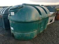 2500 litre bunded oil tank or diesel storage tank top outlet