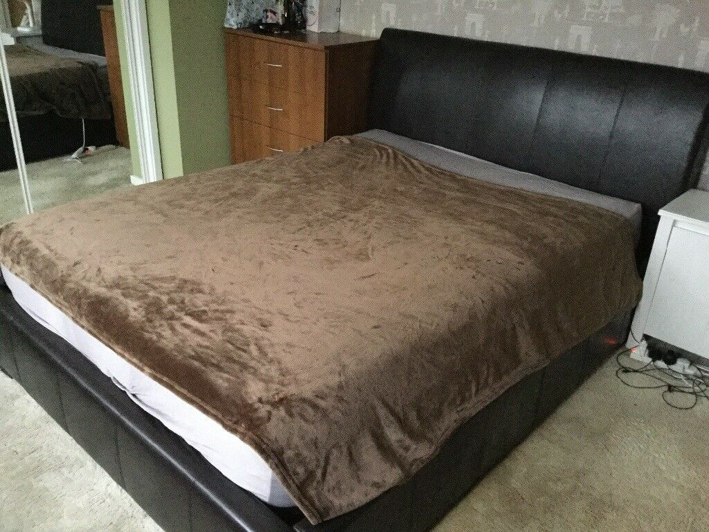 Groovy King Size Ottoman Bed Frame Brown Faux Leather In Ipswich Suffolk Gumtree Pdpeps Interior Chair Design Pdpepsorg