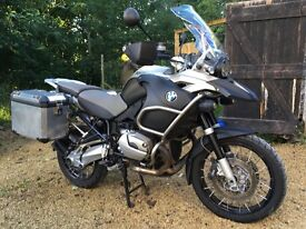 BMW r1200 GS Adventure. Beautiful bike with all the extras and luggage system included.