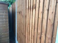💈New Pressure Treated Brown Feather Edge Flat Top Fence Panels• Excellent Quality