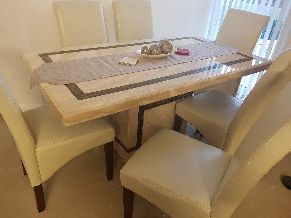 Lsrge 6 Seater Marble Dining Table In Belfast City Centre