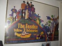 BEATLES YELLOW SUBMARINE POSTER 1992 ISSUE FRAMED