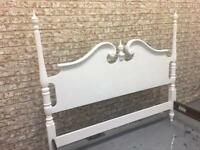 Antique French painted King size bed (base included)