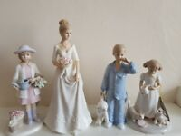 Leonardo Collection figurines - collection of 7 (children, winter theme, bride)