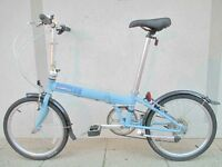 Near New Dahon Speed Folding Bike With Bag & Extras
