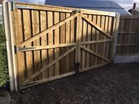 Timber gates driveway gates double gates