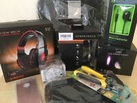 CHRISTMAS JOB LOT - Wireless Headphones + Disco Lights + Dog Clippers + Car Organiser + More