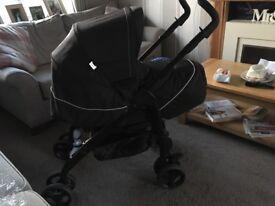 Silver Cross 3D monochrome pram and pushchair