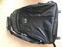 Hand luggage back pack with wheels