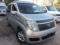 2004 NISSAN ELGRAND NEW FULL SIDE CONVERSION 4 BERTH POP TOP CAMPERVAN 3.5 V6