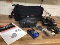 Camcorder - JVC compact VHS Videomovie GR-AX40 plus accessories