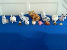 Collection of pottery pigs